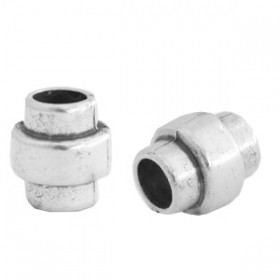TQ metaal tube 10x9 Antiek zilver