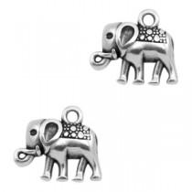 DQ bedeltje elephant Antiek zilver (nikkelvrij)