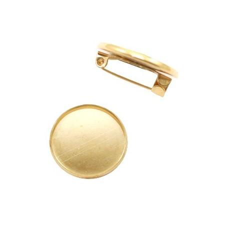 Metalen broche voor 12mm cabochon Goud