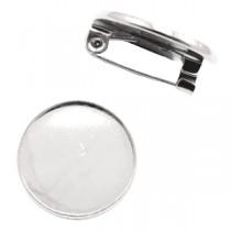 Metalen broche voor 12mm cabochon Antiek zilver