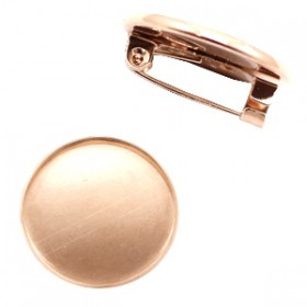 Metalen broche voor 20mm cabochon Rose goud