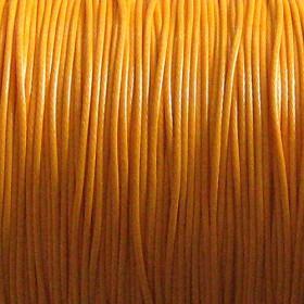 Nylon waxkoord 0.5mm geel