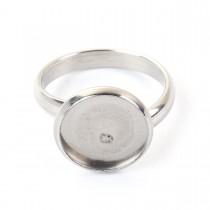 Roestvrij stalen (RVS) Stainless steel ringen voor 12mm Cabochon