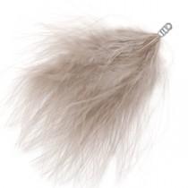 Pluche veer 8cm Taupe grey