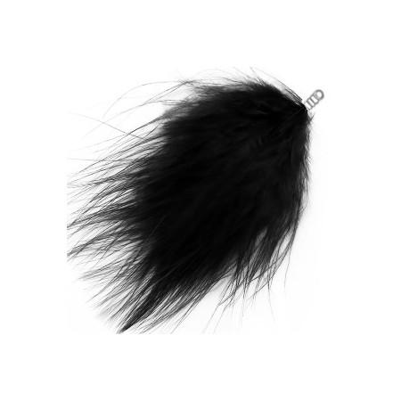 Pluche veer 8cm Black