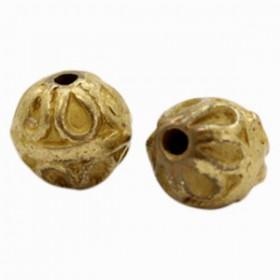 TQ metalen kralen deco 10mm Antiek brons