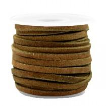 DQ Suède plat 3mm Olive brown