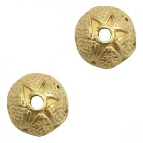 TQ metalen kralenkapje rond voor 8mm kraal Antiek brons