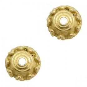 TQ metalen kralenkapje rond voor 6mm kraal Antiek brons