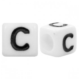Acryl letterkraal vierkant C