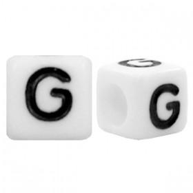 Acryl letterkraal vierkant G