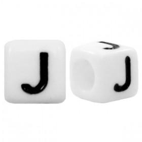Acryl letterkraal vierkant J