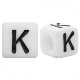 Acryl letterkraal vierkant k