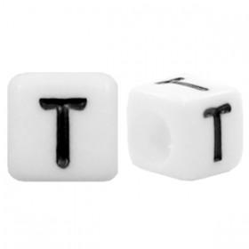 Acryl letterkraal vierkant T