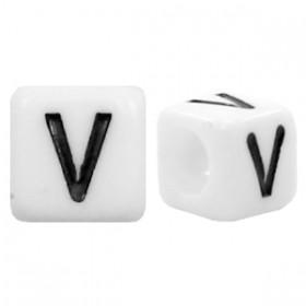 Acryl letterkraal vierkant V