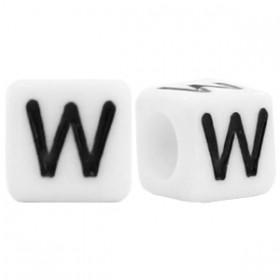 Acryl letterkraal vierkant W