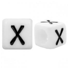 Acryl letterkraal vierkant X