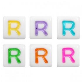 Acryl letterkraal vierkant R gekleurd