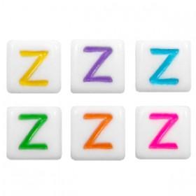 Acryl letterkraal vierkant Z gekleurd