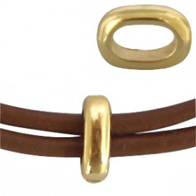 DQ metaal ovalen ring Goud (nikkelvrij)