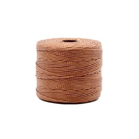 Nylon S-Lon draad 0.6mm Copper brown