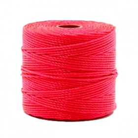Nylon S-Lon draad 0.6mm Dark coral pink
