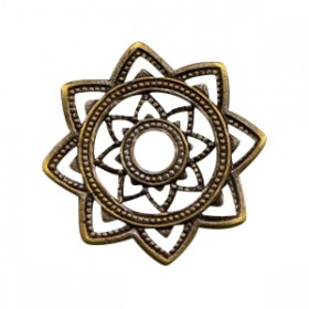 Bedels TQ metaal Mandala Antiek brons (nikkelvrij)