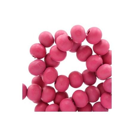 Houten Kralen Rond 6mm Cherish pink