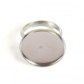 Roestvrij stalen (RVS) Stainless steel ringen voor 20mm Cabochon