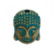 Metalen kraal Buddha Brons Patina
