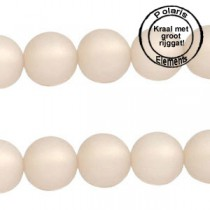 Polaris kralen matt 6 mm met groot gat Silk beige