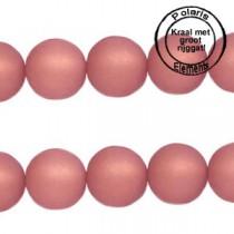 Polaris kralen matt 8 mm met groot gat Antique pink