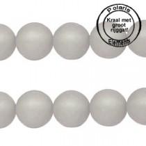 Polaris kralen matt 8 mm met groot gat Black diamond