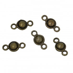Connector bal antiek bronskleur