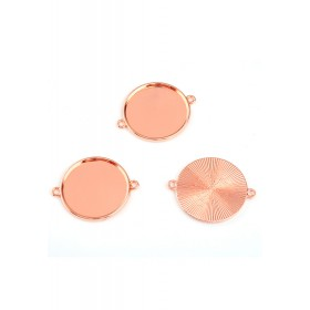 Connector met setting voor cabochon 25mm Rose gold