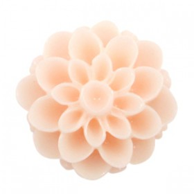 Dahlia bloem kralen 14mm shiny Pink Champagne