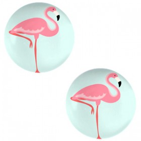 Basic cabochon 20mm Flamingo-light turquoise blue