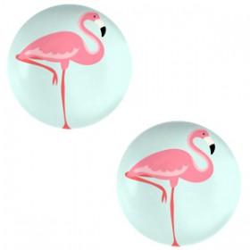 Basic cabochon 20mm Flamingo-light turquoise blue