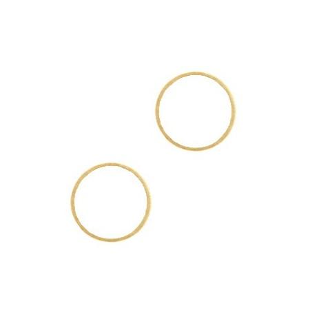 DQ Gesloten cirkelé Goud 15mm (nikkelvrij)