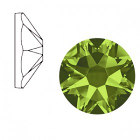 Swarovski Elements 2088-SS34 flatback Xirius Olivine green