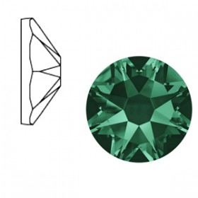 Swarovski Elements 2088-SS34 flatback Xirius Rose Emerald green