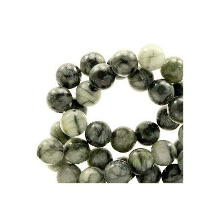 Natuursteen rond 4mm greenstone Dark green