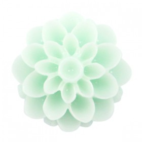 Dahlia bloem kralen 14mm shiny Light mint green