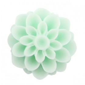 Dahlia bloem kralen 14mm matt Light mint green