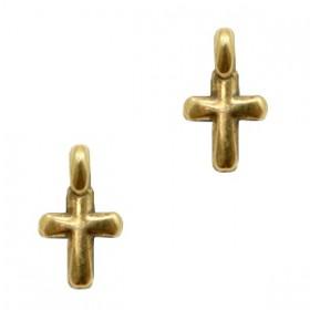 DQ metalen bedels kruisje Antiek brons (nikkelvrij)