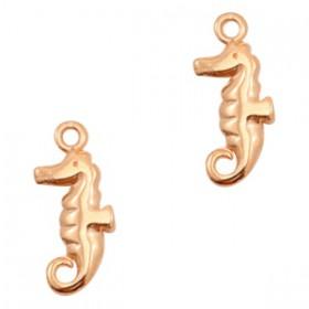 DQ metaal bedel zeepaardje Rose goud (nikkelvrij)