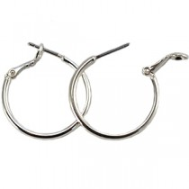 DQ creolen 18 mm Silver plated