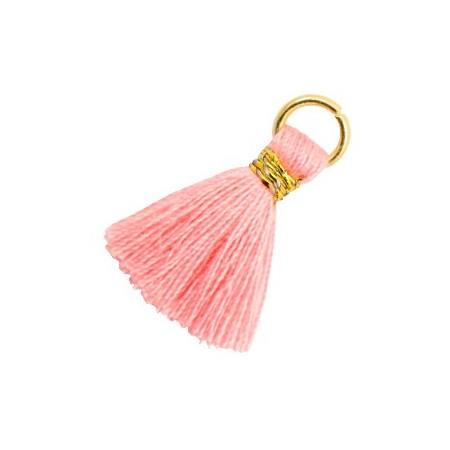 Kwastjes 1.8cm Goud Shell pink