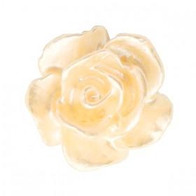 Roosjes kralen 10mm Wit-apricot butter pearl shine