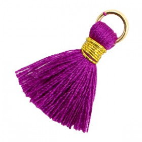 Kwastjes 1.8cm Goud Electric purple violet